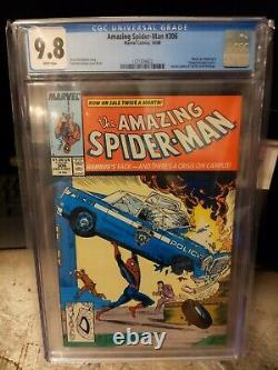 Amazing Spider-man #306 Cgc 9.8 White Pages Action Comics 1 Homage Mcfarlane
