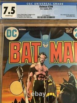 Batman #244 CGC 7.5 (VF-) Ras Al Ghul 1972 Neal Adams Bronze Age DC Comics