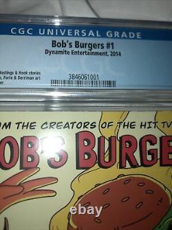 Bob's Burgers #1 CGC 9.8 (08/2014) Dynamite Comics 1st Comic Appearance