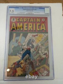 CAPTAIN AMERICA COMICS # 56 CGC 7.5 OWithWHITE PAGES