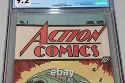 CGC 9.2 White Pages Action Comics #1 1st App Superman 1987 Nestle Foods Promo