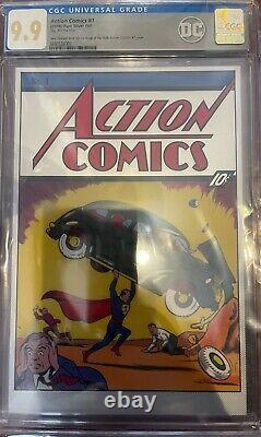 CGC 9.9 DC Action Comics #1 Superman Mint Silver Foil LIMITED EDITION