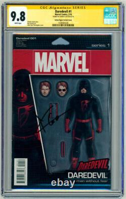CGC SS 9.8 SIGNED Charlie Cox Daredevil #1 Comic Action Figure Variant Cover Art