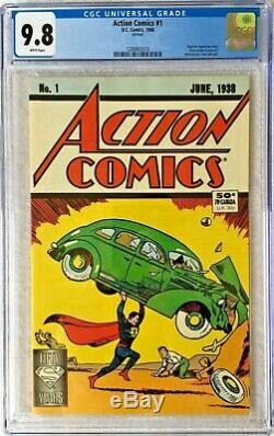 Cgc 9.8 Action Comics #1. 1988. Scarce Reprint. 1st Superman