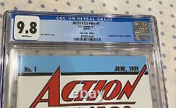 Cgc 9.8 DC Action Comics #1 Loot Crate Reprint 1st Superman Best Version Inc Coa