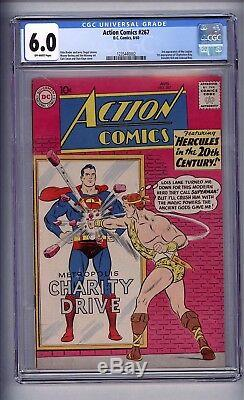 Cgc (d. C) Action Comics (superman) 267 (3rd Legion) Fn 6.0 1960 Ow Pages
