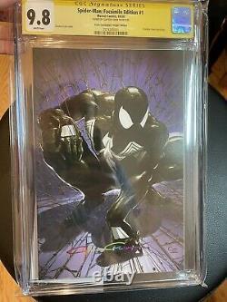Clayton Crain Spider-Man 1 Facsimile CGC 9.8 SS Black Virgin Scorpion Comics