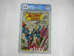 DC ACTION COMICS #252 CGC 2.5 5/59 Origin & 1st Appearance Supergirl & Metallo