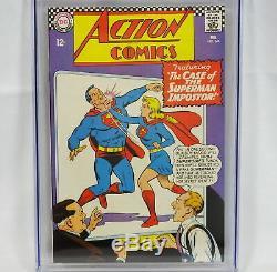 DC Action Comics #346 CGC 9.0 White Pages Superman Dorfman Bernstein Swan Klein