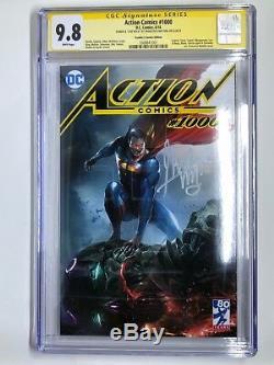 DC's Action Comics 1000 Trade Variant Signed by Francesco Mattina CGC 9.8