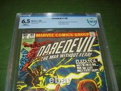 Daredevil Comics #168, 1st Elektra, 1981, Cbcs 6.5, Looks Great, Cgc