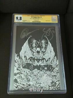 Dark Nights Metal #3 Cgc 9.8 DC Comics Signed By Greg Capullo And Scott Snyder
