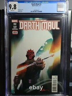 Darth Maul #2 CGC 9.8 Marvel Comics 2017 First Appearance of Cad Bane