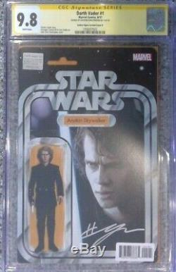 Darth Vader #1 Action Figure variant CGC 9.8 SS Signed by Hayden Christensen
