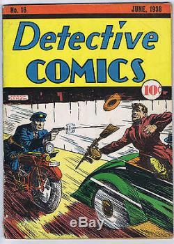 Detective Comics #16 DC 1938 Ad for Action Comics #1