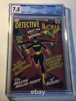 Detective Comics BATGIRL #359. Jan 1967. CGC Graded, VFN- 7.5 Silver Age