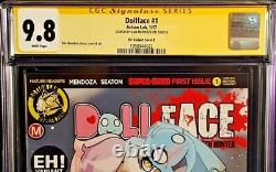 Dollface #1 Cgc Ss 9.8 Dan Mendoza Signed Variant Zombie Tramp Action Lab Comic