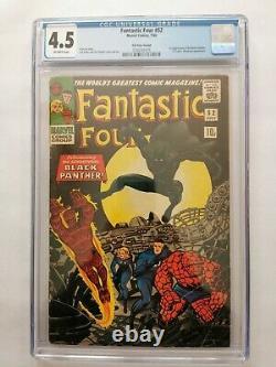 Fantastic Four 52 CGC 4.5 First Black Panther UK Version Marvel Comics