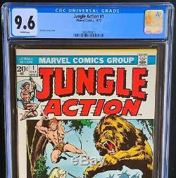 JUNGLE ACTION #1 CGC 9.6 White Pages LORNA THARN JANN Marvel Comics 1972