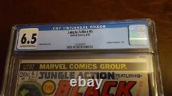 Jungle Action #5 CGC 6.5 Marvel Comics (1973) KEY 1st BLACK PANTHER In Title