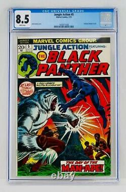 Jungle Action #5 CGC 8.5 White Pages First Black Panther Title 1st VF+ Grail Key