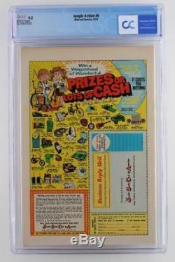 Jungle Action #6 -NEAR MINT- CGC 9.2 NM- Marvel 1973 1st App of Killmonger
