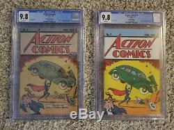 LOT OF 2 CGC 9.8 Action Comics #1 Safeguard 1976 Promo & Loot Crate REPRINTS