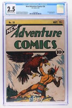 New Adventure Comics #26 DC 1938 CGC 2.5 Ad for Action Comics #1