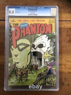 Rare CGC 8.0 the Phantom Comic #1176 Certified From Lee Falk Personal Estate