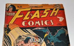 Rare FLASH #81 March 1947 DC COMIC Book, not CGC, HAWKMAN, STARFIRE, NIGHTWING