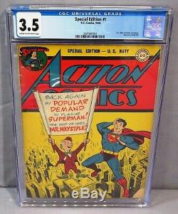 SPECIAL EDITION #1 (US Navy Giveaway, Reprints Action Comics 80) CGC 3.5 DC 1944