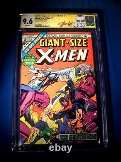 STAN LEE Signed 1975 Giant-Size X-MEN #2 SS Marvel Comics CGC 9.6 NM+ 2 Higher