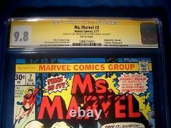 STAN LEE Signed 1977 Ms. MARVEL #2 SS Marvel Comics CGC 9.8 NM/MT Highest