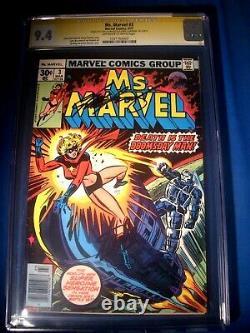 STAN LEE Signed 1977 Ms. MARVEL #3 SS Marvel Comics CGC 9.4 NM Highest