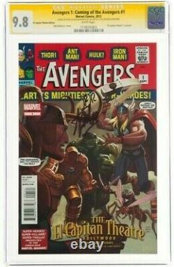 STAN LEE Signed 2012 AVENGERS 1 SS Marvel Comics CGC 9.8 NM/MT TOP POP