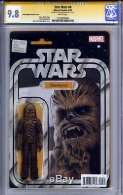STAR WARS #4 CGC 9.8 SS PETER MAYHEW (Action Figure variant cover)