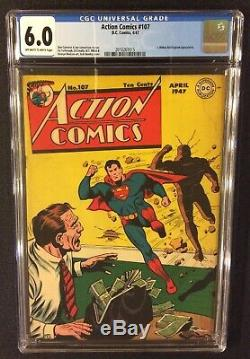 SUPERMAN ACTION COMICS #107 Comic Book CGC 6.0 DC 1947 Golden Age 10 Cent