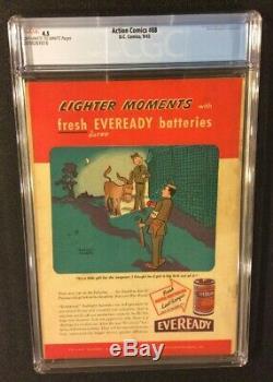 SUPERMAN ACTION COMICS #88 CGC 4.5 DC 1945 Golden Age 10 Cent HOCUS & POCUS