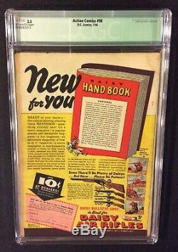 SUPERMAN ACTION COMICS #98 Comic Book CGC 3.5 DC 1946 Golden Age 10 Cent SUSIE