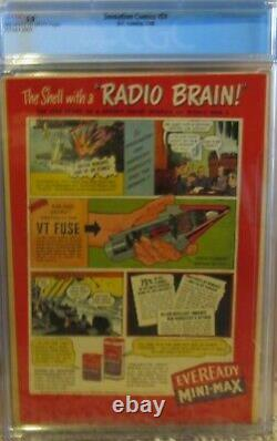 Sensation Comics #51 Cgc 5.0 1946 Classic Wonder Woman! Action Comic #1 Homage