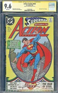 Signed George Perez Art CGC SS 9.6 Action Comics #643 Superman #1 Cover Homage