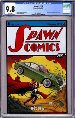 Spawn #228 Cgc 9.8 White Pages Action Comics #1 Cover Homage 2013