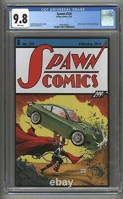Spawn #228 (Image Comics 2013) Action Comics #1 Cover Homage CGC 9.8 White Pgs