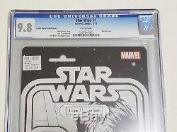 Star Wars #1 Luke Action Figure Sketch Variant CGC 9.8 NM/MT Marvel 2015 C2E2 BW