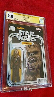 Star Wars #4 CGC 9.8 SS Peter Mayhew Action Figure Variant Cover 1 Chewbacca NM+