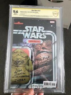 Star Wars #51 Marvel Comics Jabba Action Figure variant X7 signatures CBCS 9.6