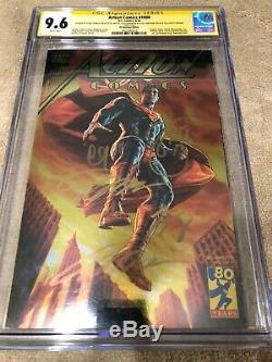 Superman Action Comics 1000 CGC 9.6 SS 5X Signed Jim Lee Gold Foil DC Boutique