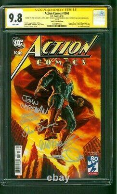 Superman Action Comics 1000 CGC 9.8 SS 5X Sign 9.8 Lee Bermejo 2000's Variant