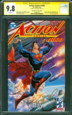 Superman Action Comics 1000 CGC 9.8 SS Tony Daniel Uncanny Comic Shop Ed Variant