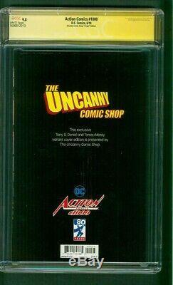 Superman Action Comics 1000 CGC 9.8 SS Tony Daniel Uncanny Comics Virgin Variant